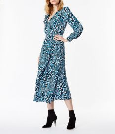 Leopard Print Midi Dress by Karen Millen at Karen Millen
