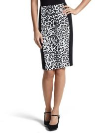 Leopard Print Skirt at White House Black Market