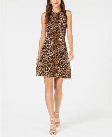 Leopard-Print Sweater Dress at Macys
