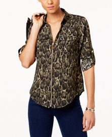 Leopard Print Utility Blouse by MICHAEL Michael Kors at Macys