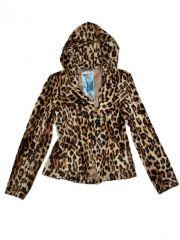 Leopard fur jacket at L.A.M.B.