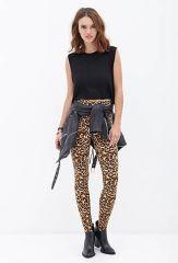 Leopard leggings at Forever 21