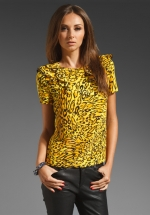 Leopard print blouse by Juicy Couture at Revolve