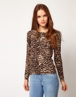 Leopard print cardigan from ASOS at Asos