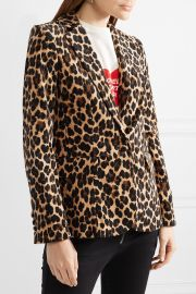 Leopard-print cotton-blend velvet blazer at Net A Porter