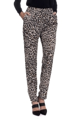 Leopard print high waisted pants at Madison LA