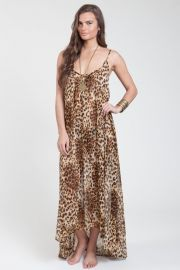 Leopard Print Maxi Dress - Qi Dress