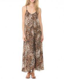 Leopard print maxi dress at ChicNova