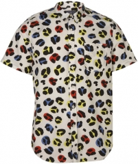 Leopard print short sleeve shirt at Topman