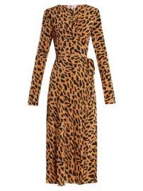 Leopard-print silk wrap dress at Matches