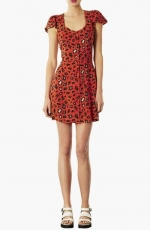 Leopard print tea dress by Topshp at Nordstrom