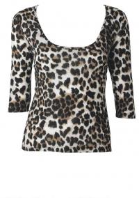 Leopard print top at Alloy