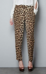 Leopard print trousers from Zara at Zara