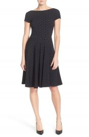 Leota  Circle  Jacquard Woven Jersey Dress at Nordstrom