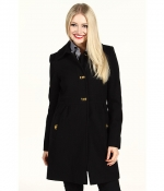 Leslie's black coat at Zappos