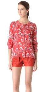 Leslie's red blouse by ALC at Shopbop