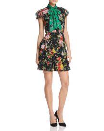 Lessie Tiered Floral Tie-Neck Dress at Bloomingdales