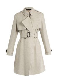 Leveson cashmere coat by Burberry at Matches