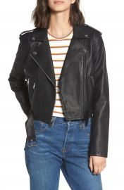 Levi  x27 s   Faux Leather Fashion Belted Moto Jacket at Nordstrom