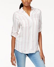 Levi s  Striped Roll-Tab-Sleeve Shirt at Macys