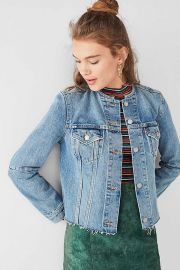 Levis Collarless Denim Jacket at Urban Outiftters