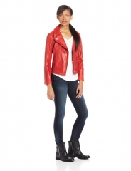 Levis red leather trucker jacket at Amazon
