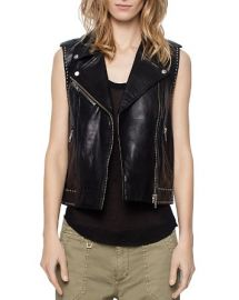 Lexy Deluxe Leather Vest by Zadig & Voltaire at Bloomingdales