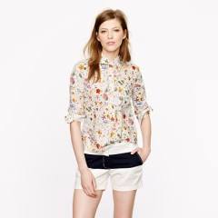 Liberty popover in floral eve at J. Crew