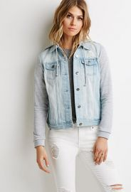 Life in Progress Hooded Denim Jacket  Forever 21 - 2049257269 at Forever 21