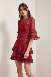 Light Up Mini Dress Red Wildflower Floral by Keepsake at Keepsake The Label