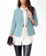 Light blue blazer from Forever 21 at Forever 21
