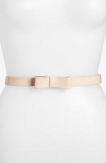 Light pink bow belt at Nordstrom
