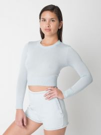 Lightweight Crop Sweater at American Apparel