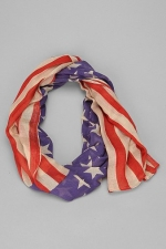 Lightweight Stars and Stripes Scarf at Urban Outfitters