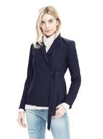 Lightweight Wool Wrapped Blazer  at Banana Republic