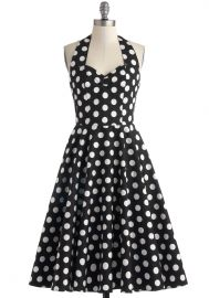 Like Oh My Dot Dress in Black at ModCloth