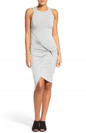 Likely Knighton Twist Front Jersey Body-Con Dress at Nordstrom