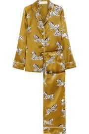 Lila Mona Printed Pajama set by Olivia Von Halle at Net A Porter
