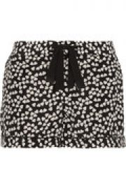 Lilian printed washed-silk pajama shorts at The Outnet