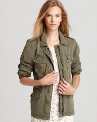 Lily Aldridge for Velvet Jacket - Army at Bloomingdales