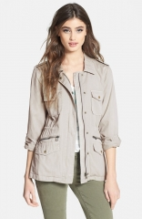 Lily Aldridge for Velvet by Graham andamp Spencer Army Jacket in sand at Nordstrom