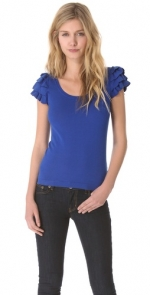 Lilys blue ruffle top at Shopbop