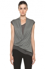 Lily's grey top by Helmut Lang at Forward by Elyse Walker