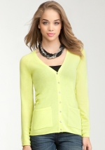 Lime cardigan like Alexs from Bebe at Bebe