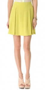 Lime pleated skirt like Ashleys at Shopbop
