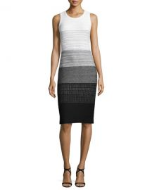 Linear Degrade Knit Sheath Dress at Neiman Marcus