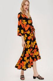 Linear Floral Midi Skirt - Shop All Sale - Sale at Topshop