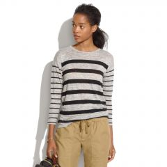 Linen Mixed Stripe Tee at Madewell