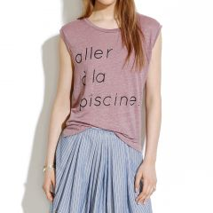Linen Piscine Muscle Tee at Madewell
