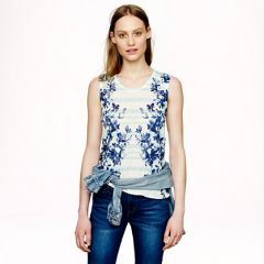 Linen Swing Tank in Photo Floral at J. Crew